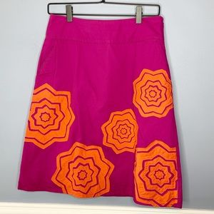 Boden Embroidered Floral Skirt
